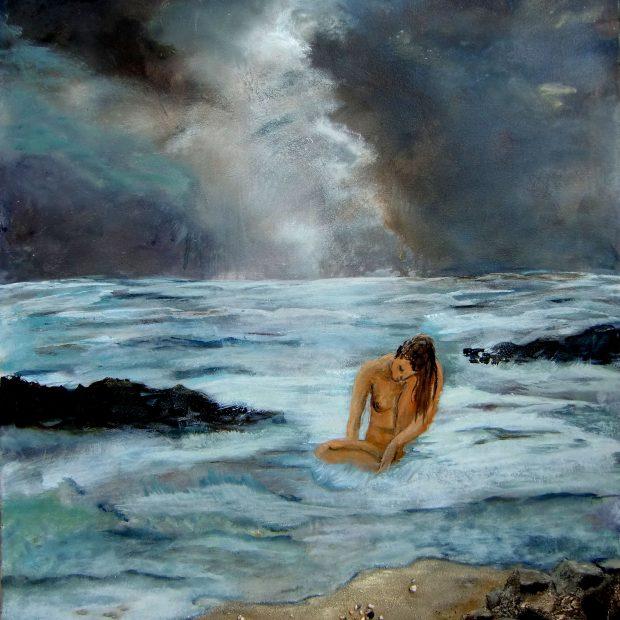 Unwetter naht – allein im See