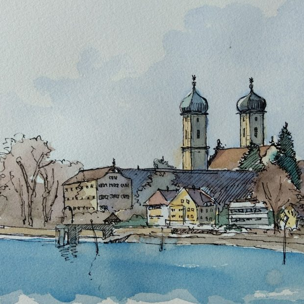 1.: Die Schlosskirche in Friedrichshafen