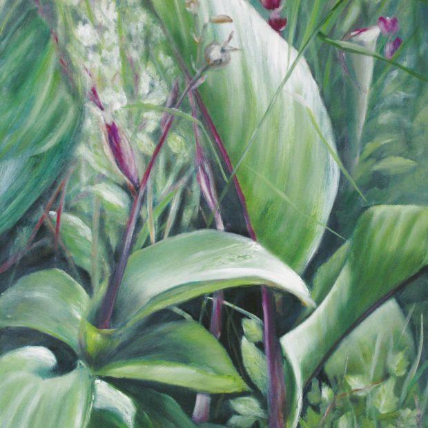 Verde VII, 2021, Öl auf Leinwand, 150 x 100 cm